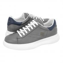 Ανδρικό Δερμάτινο Sneaker Παπούτσι σε Γκρι Χρώμα Guy Laroche GL19004_GREY