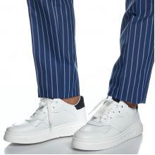 Ανδρικό Δερμάτινο Sneaker Παπούτσι σε Λευκό Χρώμα Bizzaro 5212RECK_1